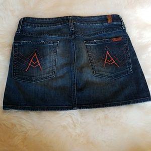 7 for all man kind Jean skirt